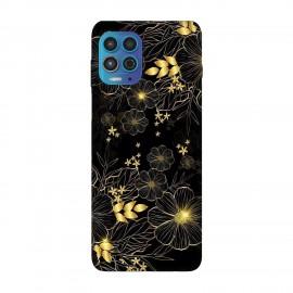 Motorola Moto G100 кейс Златни цветя