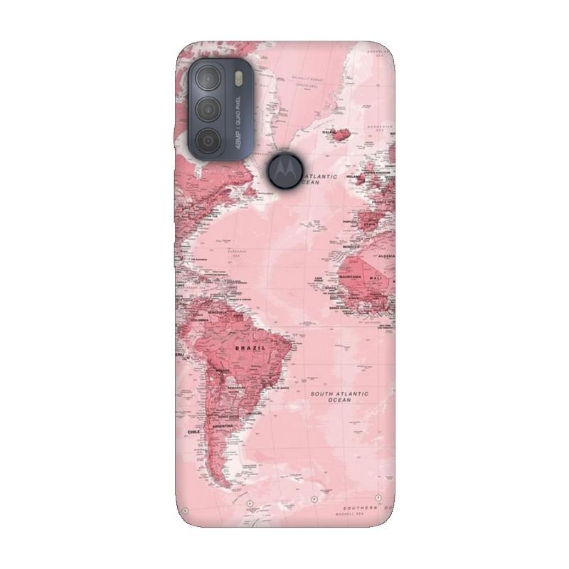 Motorola Moto G50 кейс Розова карта