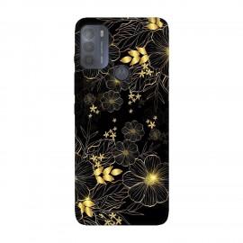 Motorola Moto G50 кейс Златни цветя