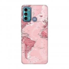 Motorola Moto G60 кейс Розова карта