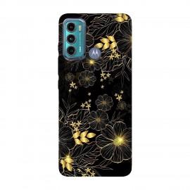 Motorola Moto G60 кейс Златни цветя
