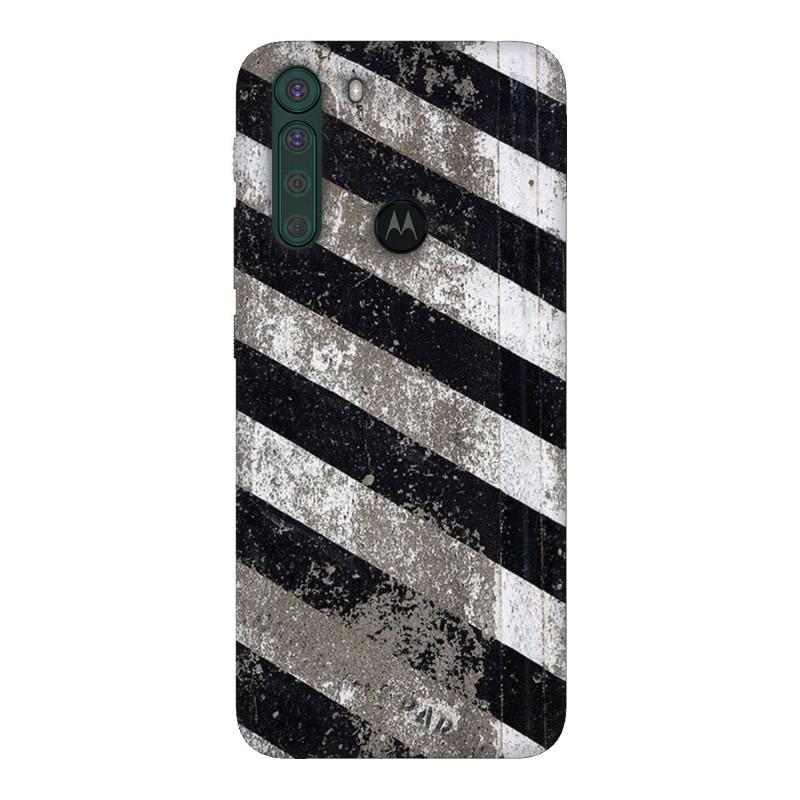 Motorola One Fusion кейс Черно и бяло