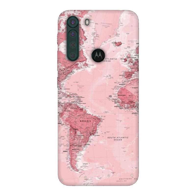Motorola One Fusion кейс Розова карта