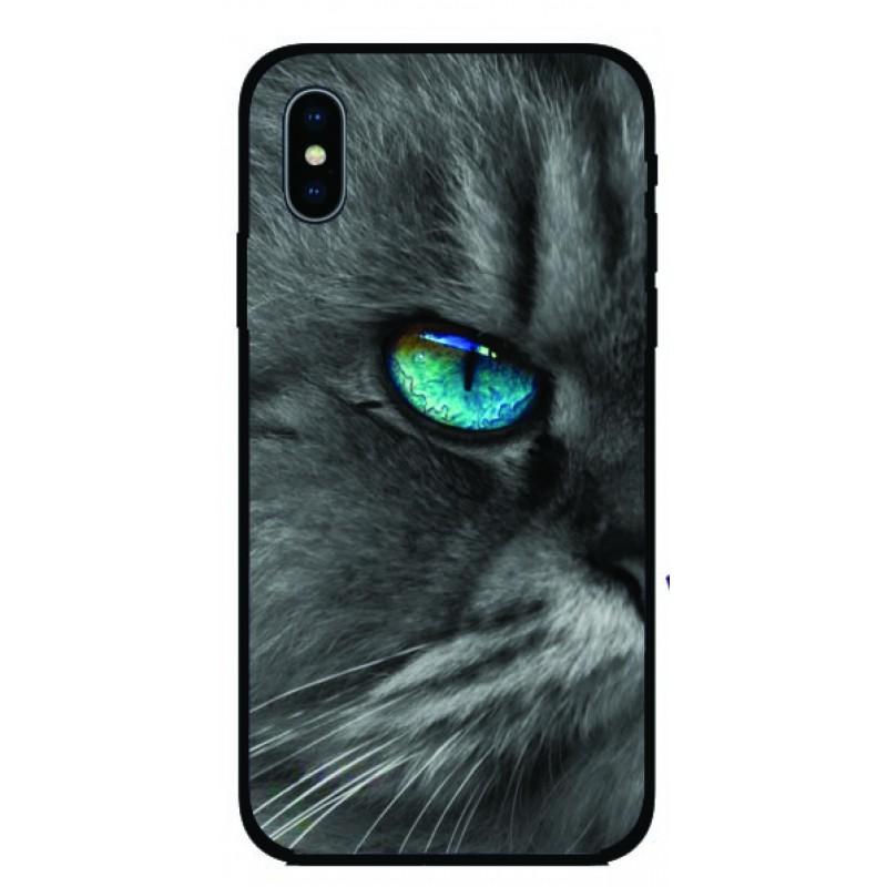 Калъфче за Nokia 101+1 синеоко коте