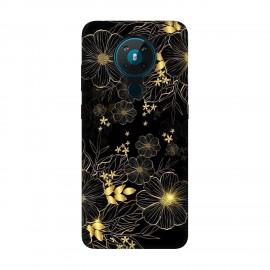 Nokia 5.3 кейс  Златни цветя