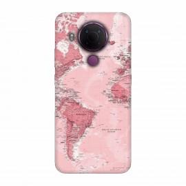 Nokia 5.4 кейс Розова карта