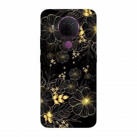 Nokia 5.4 кейс Златни цветя