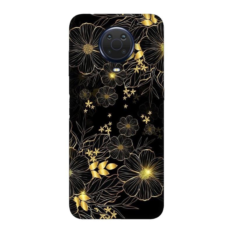 Nokia G20 кейс Златни цветя