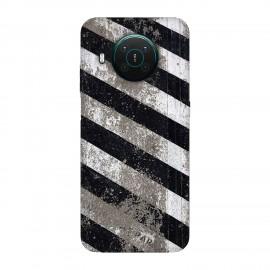 Nokia X10 кейс Черно и бяло