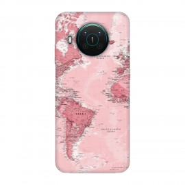 Nokia X10 кейс Розова карта