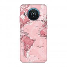 Nokia X20 кейс Розова карта