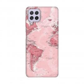 Samsung А22 4G кейс Розова карта