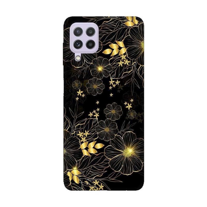 Samsung А22 4G кейс Златни цветя