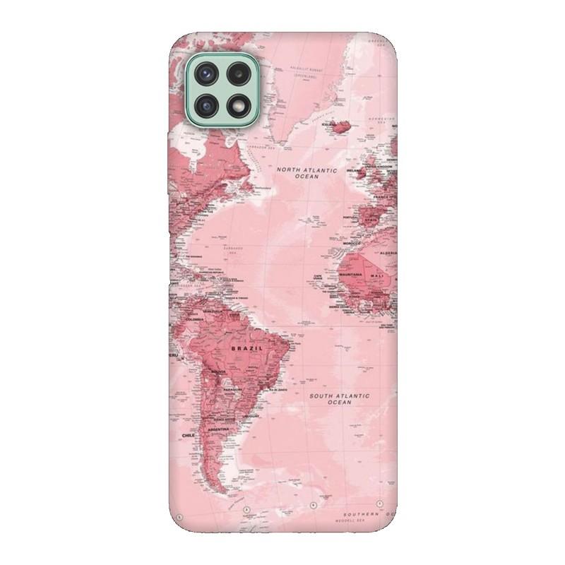 Samsung А22 5G кейс Розова карта