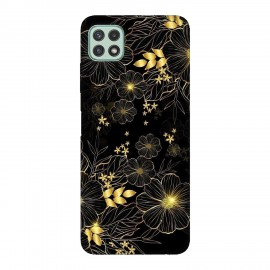 Samsung А22 5G кейс Златни цветя