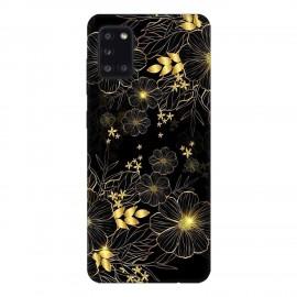Samsung А31 кейс Златни цветя