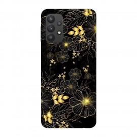 Samsung А32 кейс Златни цветя
