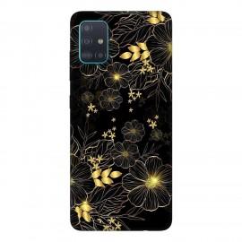 Samsung А51 кейс Златни цветя