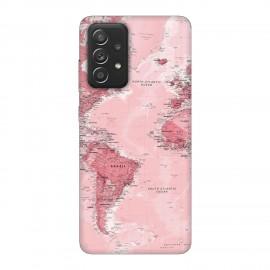 Samsung А52 5G кейс Розова карта