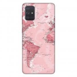 Samsung А71 кейс Розова карта