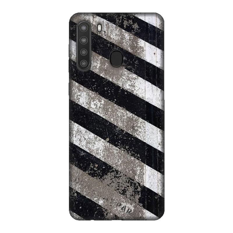 Samsung A21 кейс Черно и бяло
