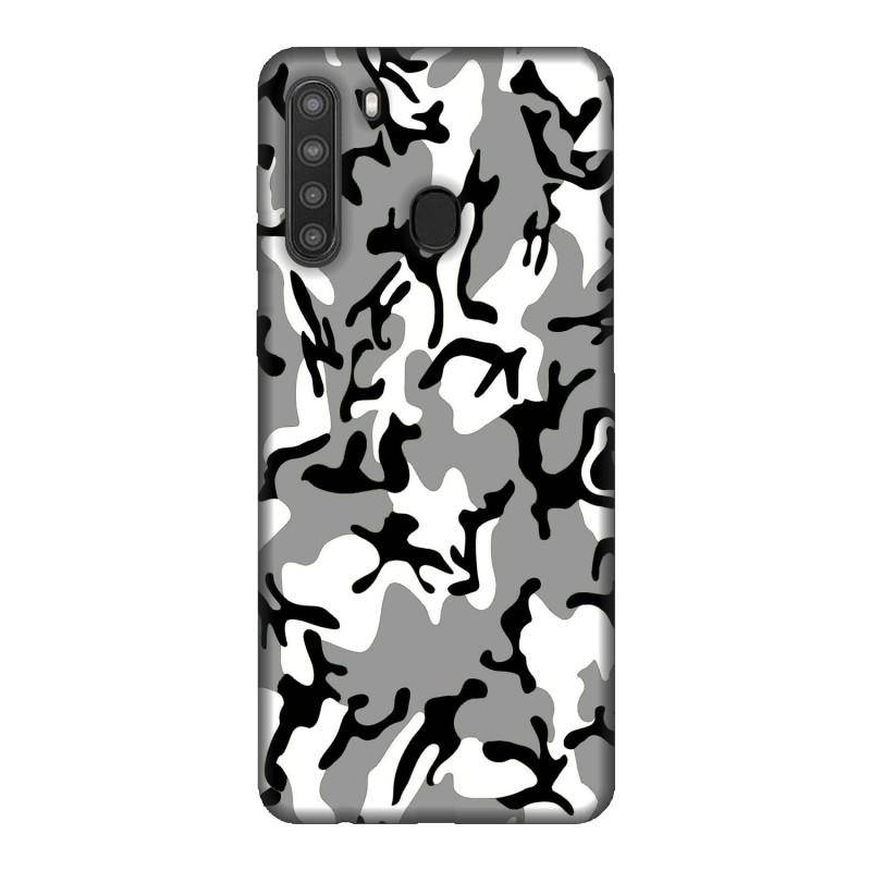 Samsung A21 кейс Камуфлажен