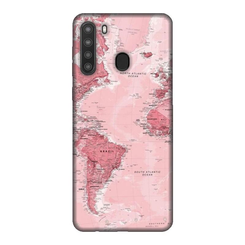 Samsung A21 кейс Розова карта