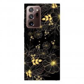 Samsung Note 20 Ultra кейс Златни цветя