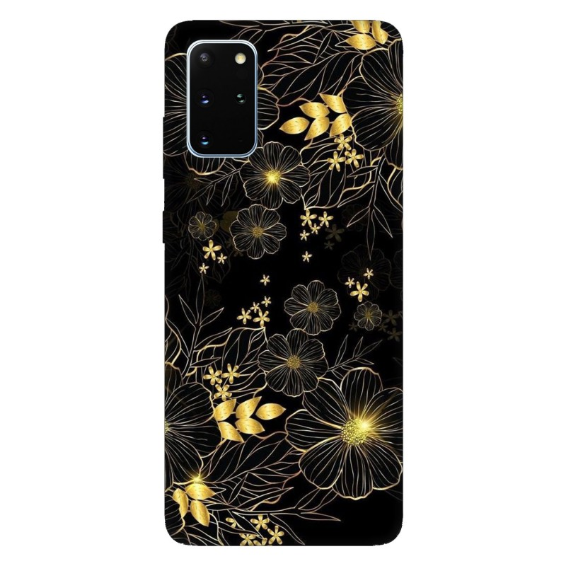 Samsung S20+ кейс Златни цветя
