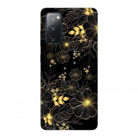 Samsung S20 FE кейс Златни цветя