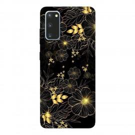 Samsung S20 кейс Златни цветя