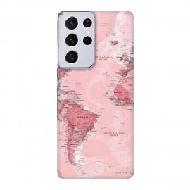 Samsung S21 Ultra кейс Розова карта