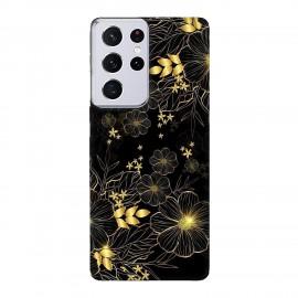Samsung S21 Ultra кейс Златни цветя