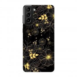 Samsung S21 кейс Златни цветя