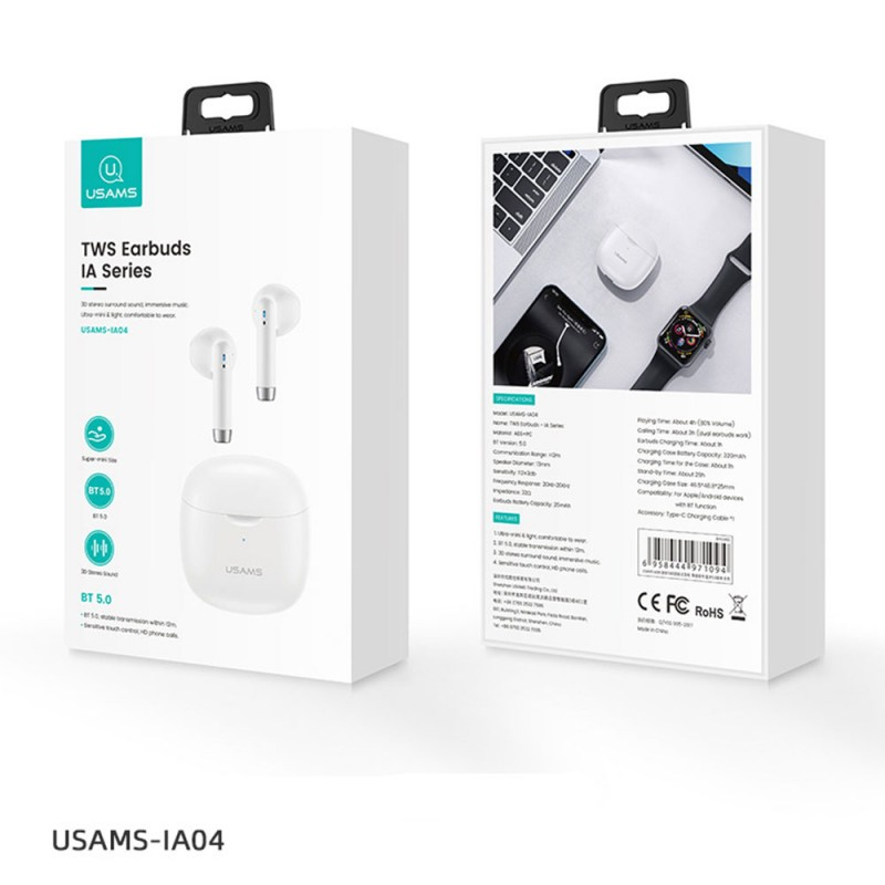 USAMS TWS Earbuds Bluetooth слушалки