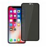 iPhone X privacy стъклен протектор