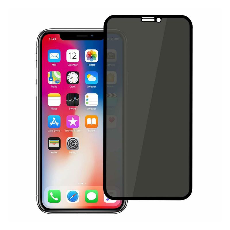 iPhone XS privacy стъклен протектор