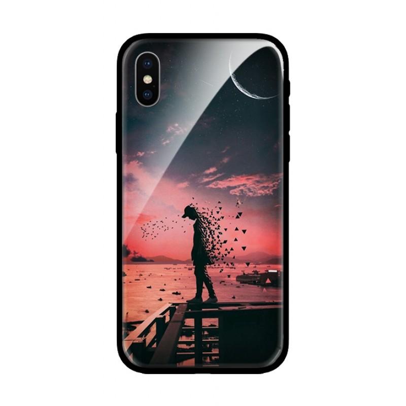 Стъклен кейс за Huawei Mate 20 lite пейзаж 396