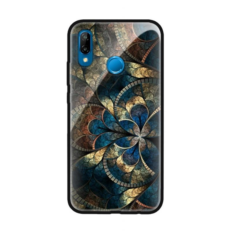 Стъклен кейс за Huawei Mate 20 pro цветя 434