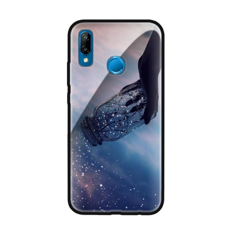 Стъклен кейс за Huawei Mate 20 pro звезди в буркан 101+32
