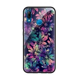 Стъклен кейс за Huawei Dark Flowers 521