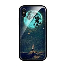Стъклен кейс за iPhone Blue Moon 531