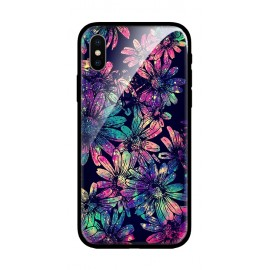 Стъклен кейс за iPhone Dark Flowers 321