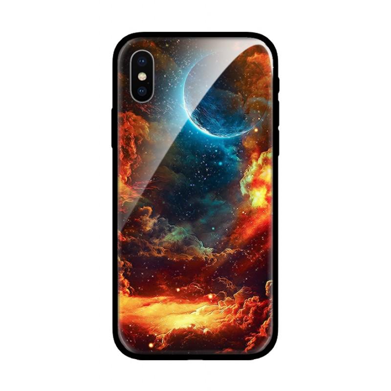 Стъклен кейс за iPhone луна 473