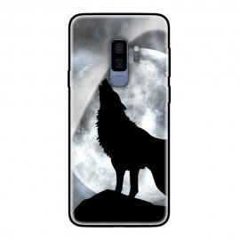 Стъклен кейс за Samsung черен вълк 405