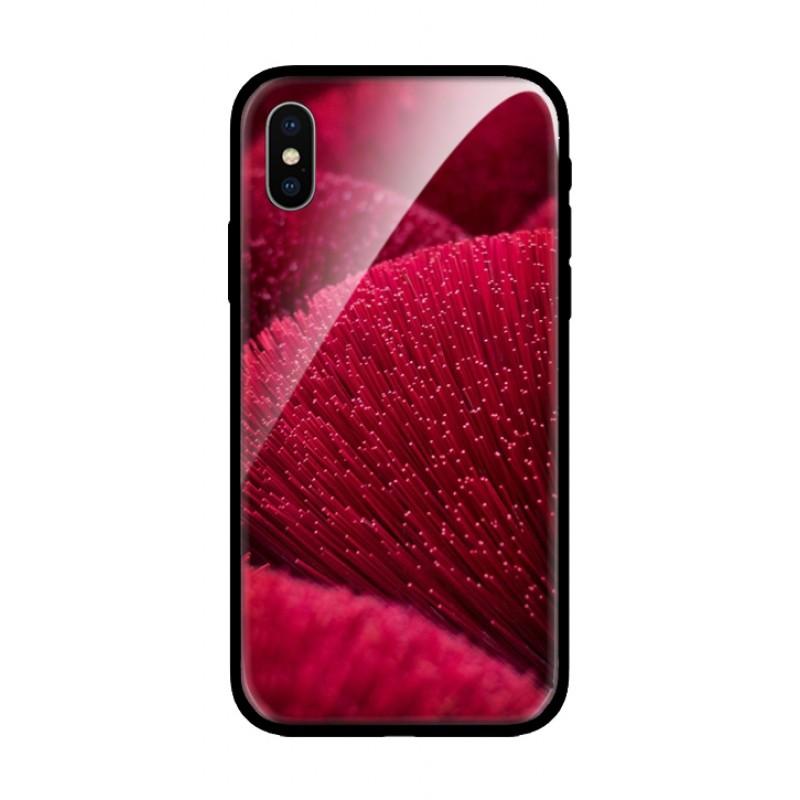 Стъклен кейс за Samsung червен 475