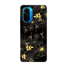 Xiaomi Poco F3 кейс Златни цветя