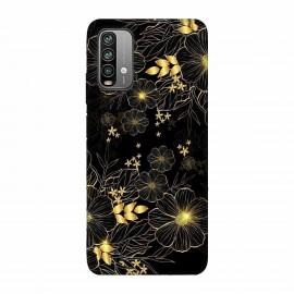 Xiaomi Redmi 9 Power Кейс Златни цветя