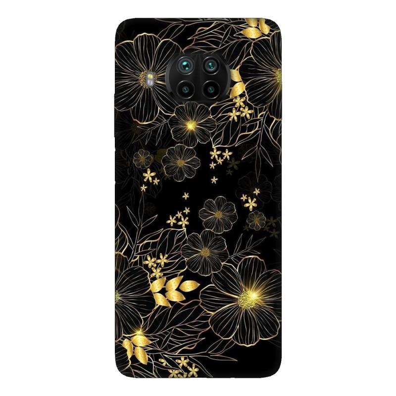 Xiaomi Mi 10T Lite 5G кейс Златни цветя