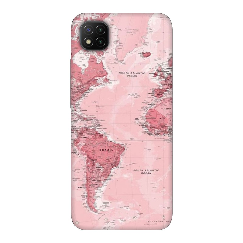 Xiaomi Poco C3 кейс Розова карта